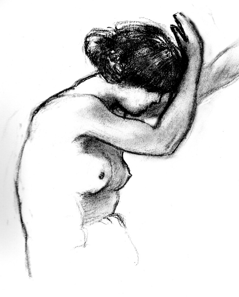 Female figure study - charcoal - 2020 - Stephen Michael B