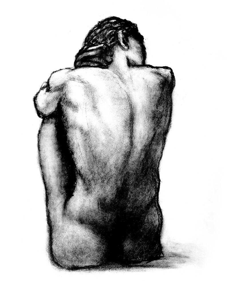 Male figure study - charcoal - 2020 - Stephen Michael B